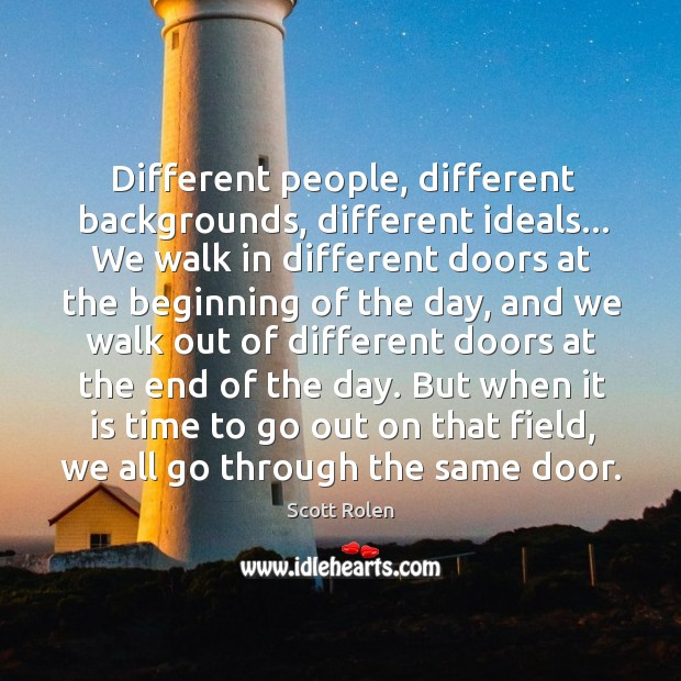 Different people, different backgrounds, different ideals… We walk in different doors at Image