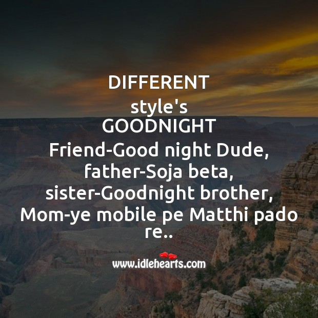 Image, Different style's goodnight