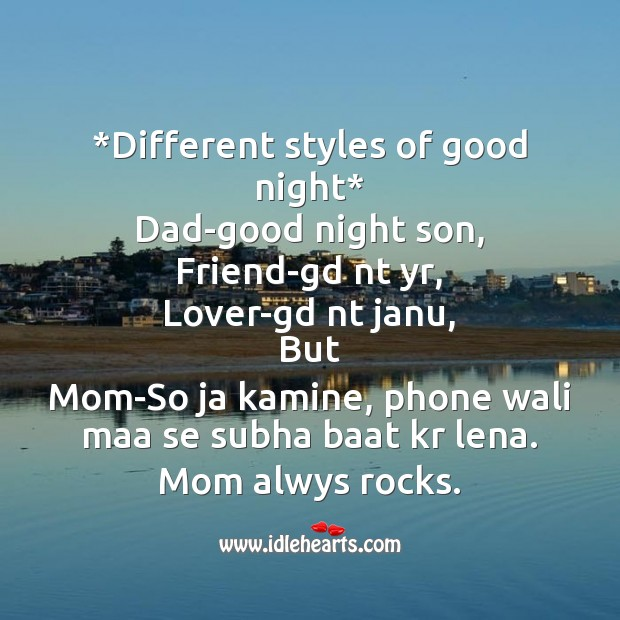 Different styles Good Night Messages Image