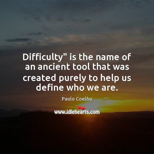 """Difficulty"""" is the name of an ancient tool that was created purely Image"""