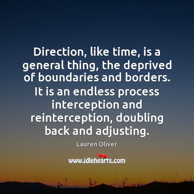 Image, Direction, like time, is a general thing, the deprived of boundaries and