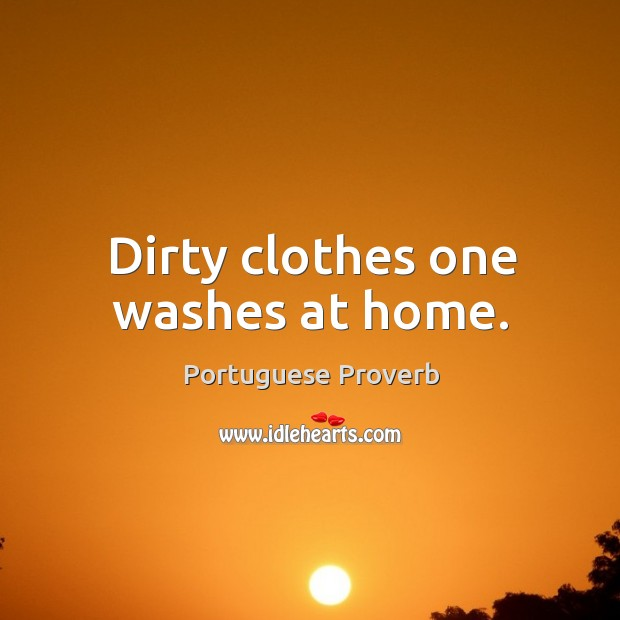 Dirty clothes one washes at home. Image