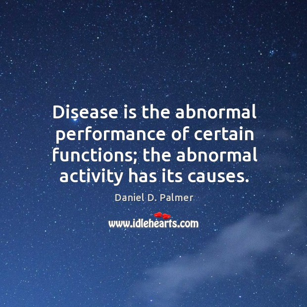 Image, Disease is the abnormal performance of certain functions; the abnormal activity has