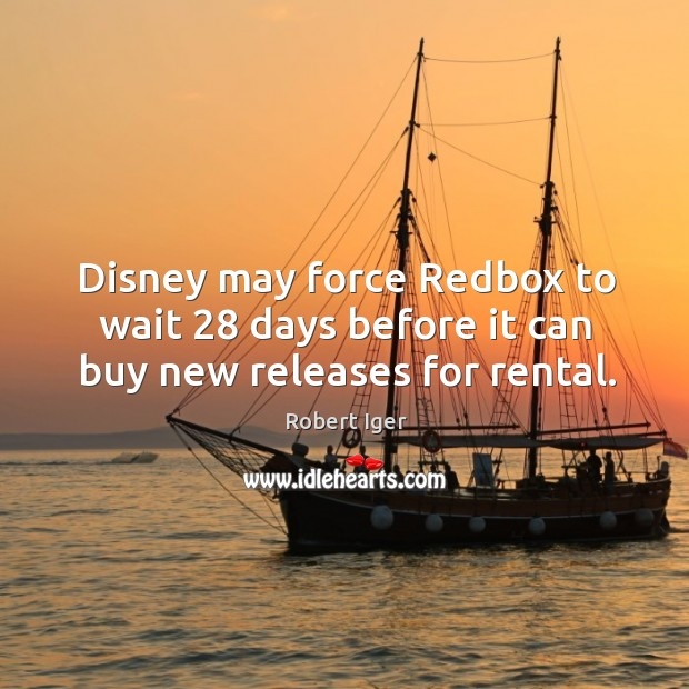 Disney may force redbox to wait 28 days before it can buy new releases for rental. Image