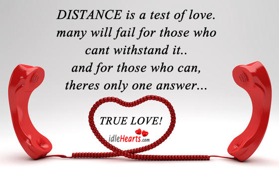 Image, Distance is a test of love