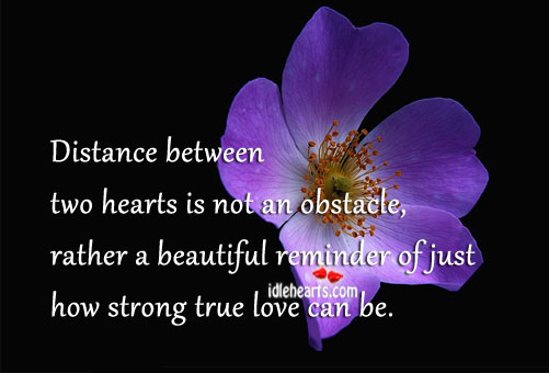 Distance Between Two Hearts is Not an Obstacle.