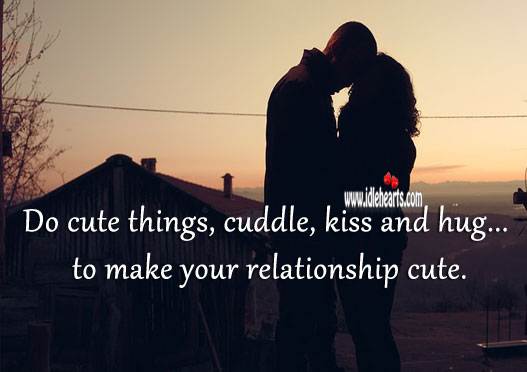Do cute things to make your relationship cute. Image