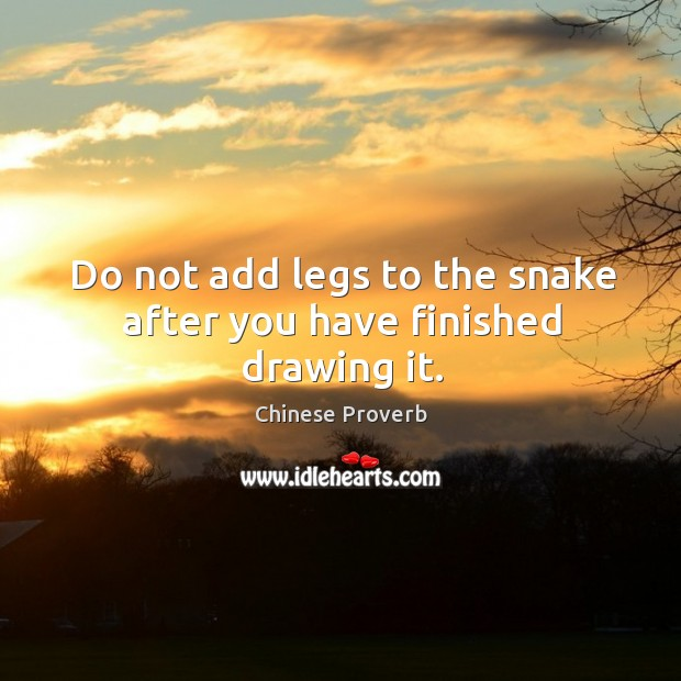 Image, Do not add legs to the snake after you have finished drawing it.
