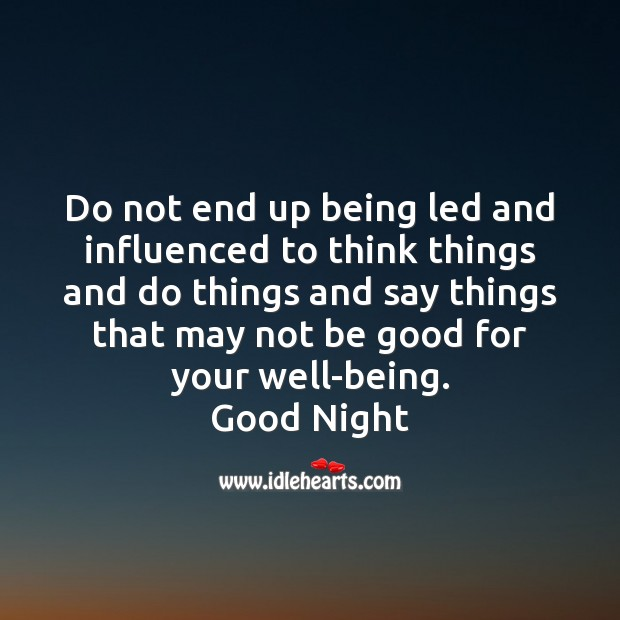 Do not end up being led and influenced Image