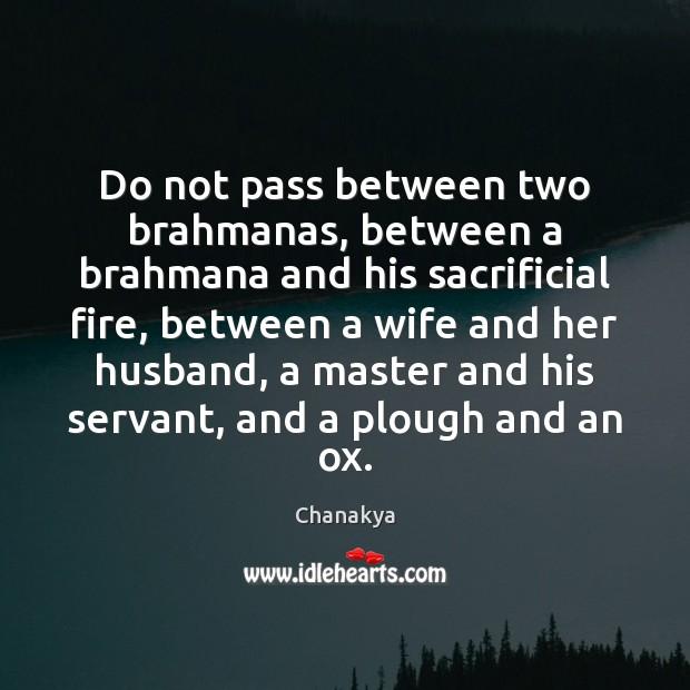Image, Do not pass between two brahmanas, between a brahmana and his sacrificial