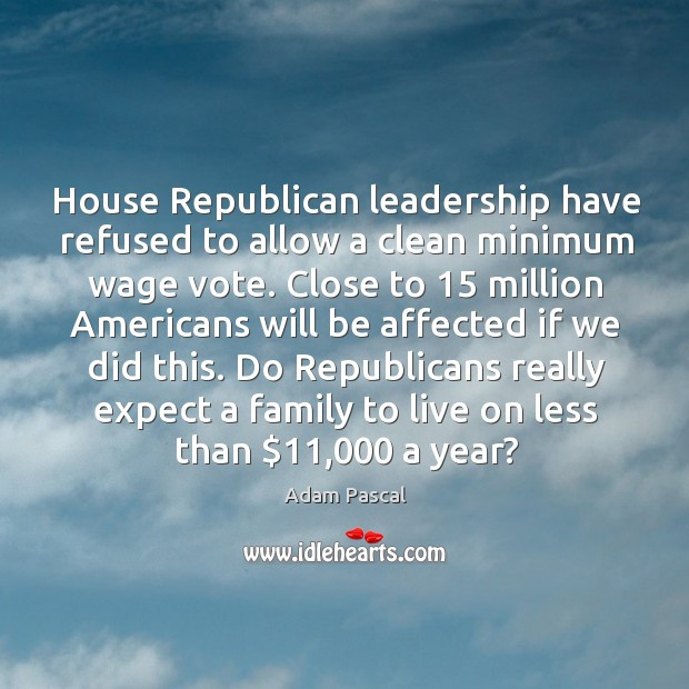 Image, Do republicans really expect a family to live on less than $11,000 a year?