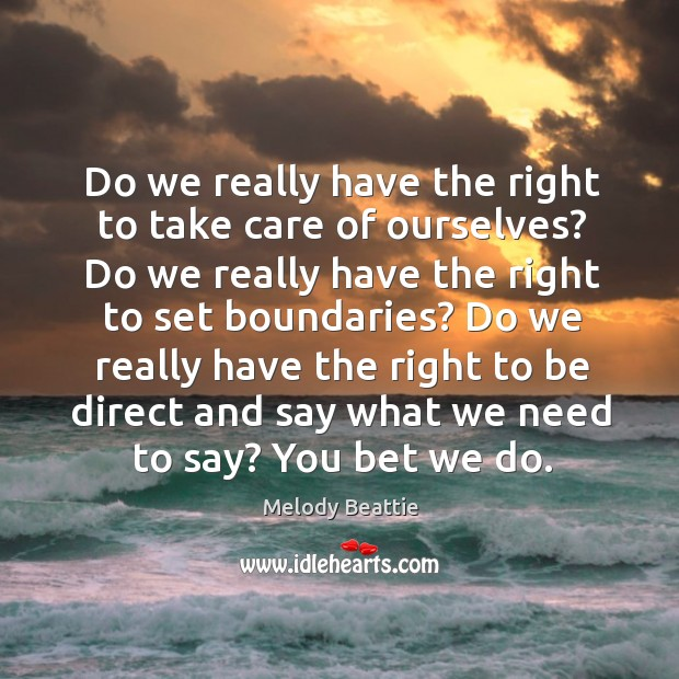 Do we really have the right to take care of ourselves? Do Image