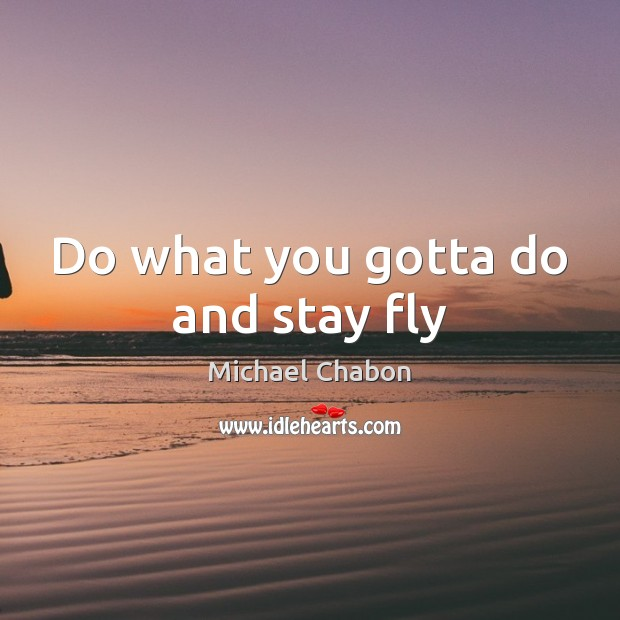 Do what you gotta do and stay fly Image