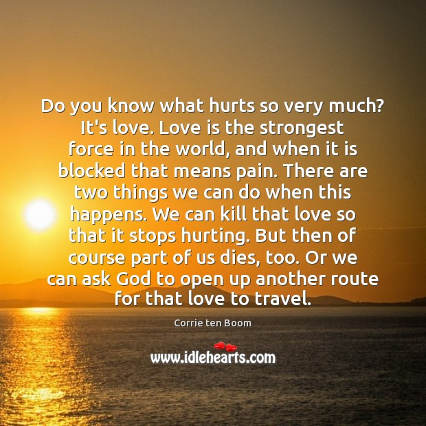 Image, Do you know what hurts so very much? It's love. Love is