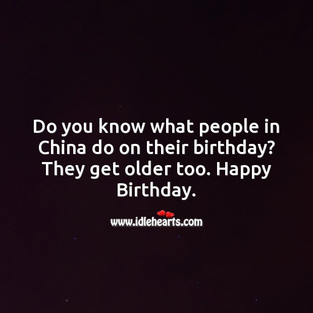 Do you know what people in china do on their birthday? Image