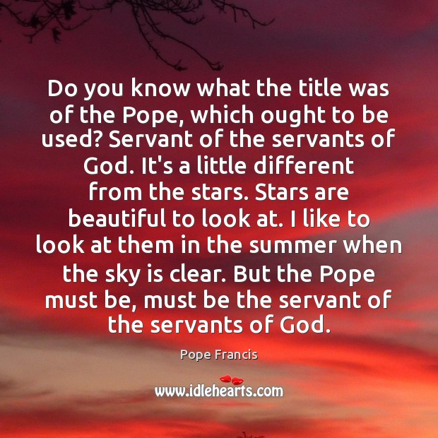 Do you know what the title was of the Pope, which ought Image