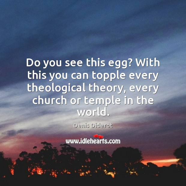 Do you see this egg? With this you can topple every theological Image