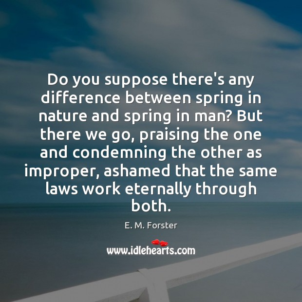 Do you suppose there's any difference between spring in nature and spring Image