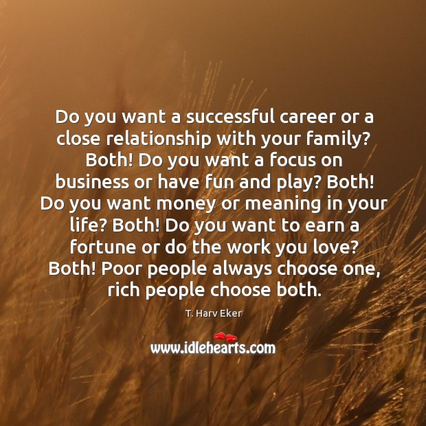 Do you want a successful career or a close relationship with your Image