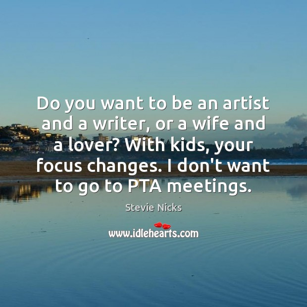 Do you want to be an artist and a writer, or a Image