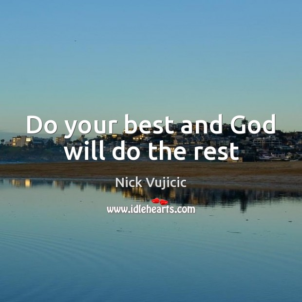 Image, Do your best and God will do the rest