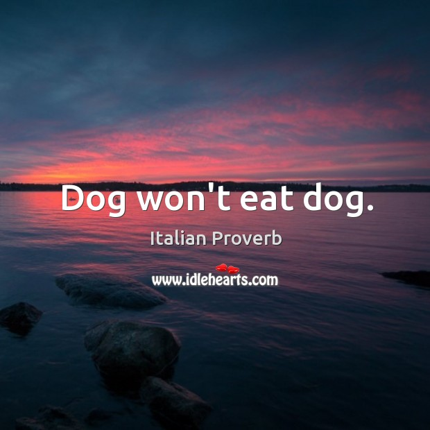Image, Dog won't eat dog.