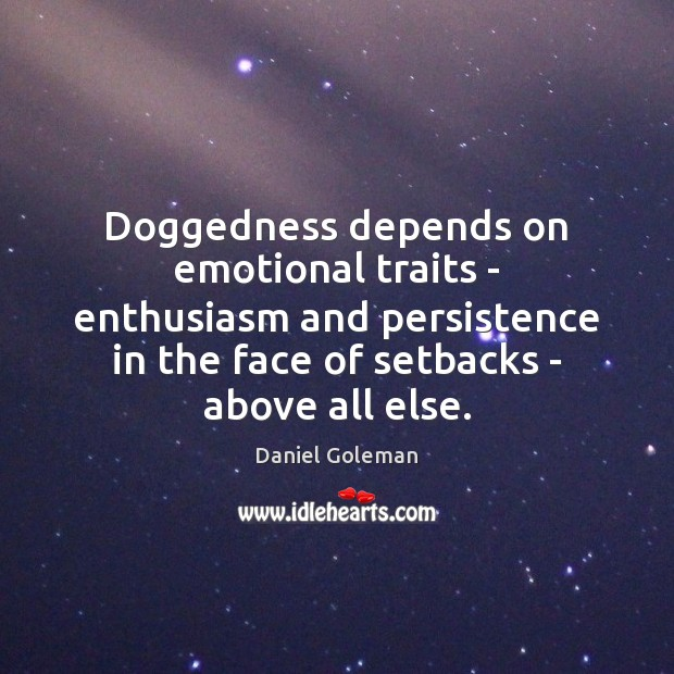 Image, Doggedness depends on emotional traits – enthusiasm and persistence in the face