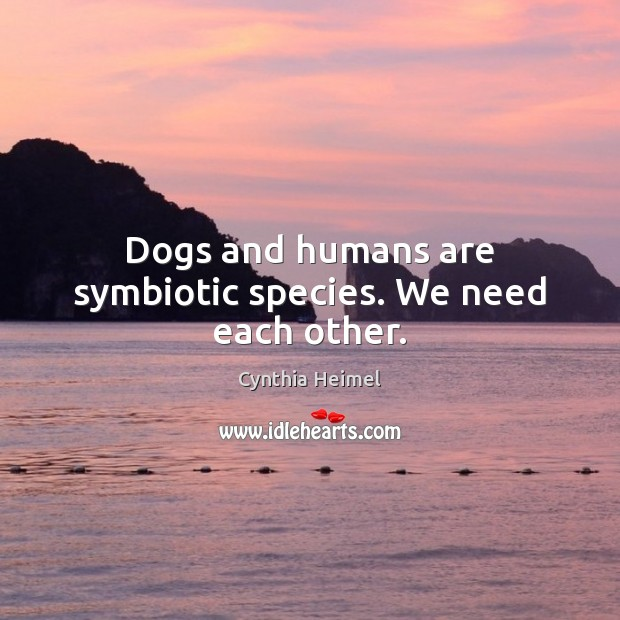 Image, Dogs and humans are symbiotic species. We need each other.