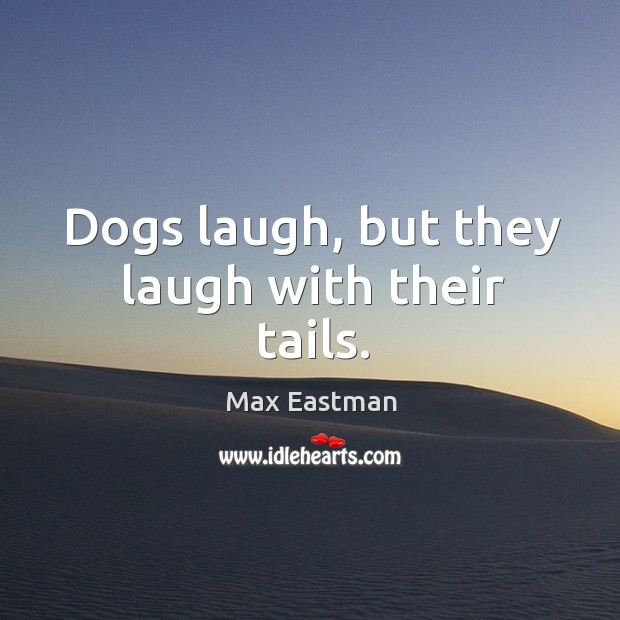 Dogs laugh, but they laugh with their tails. Image