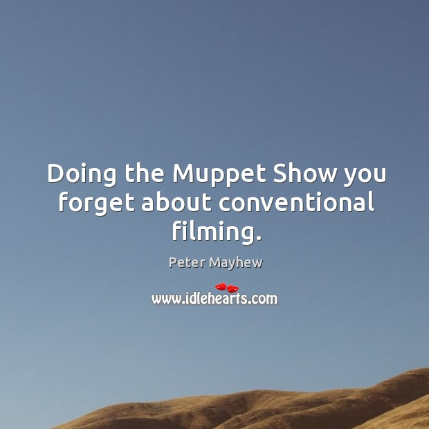 Doing the muppet show you forget about conventional filming. Image