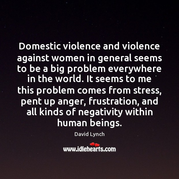 Image, Domestic violence and violence against women in general seems to be a