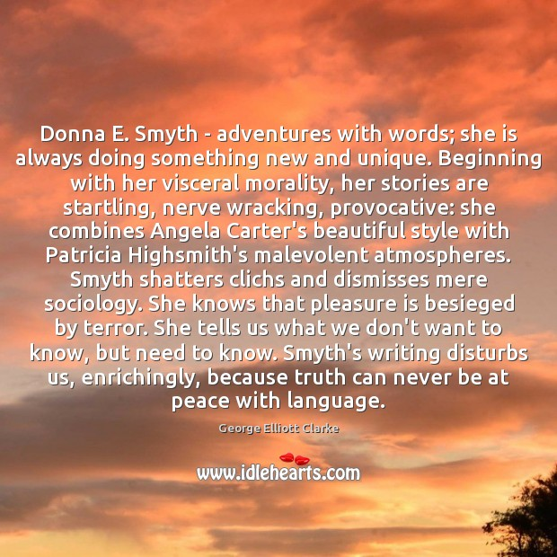 Image, Donna E. Smyth – adventures with words; she is always doing something