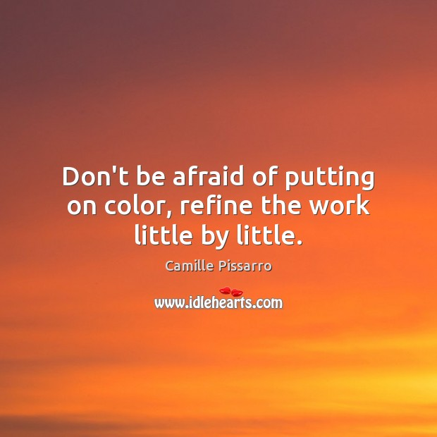 Image, Don't be afraid of putting on color, refine the work little by little.