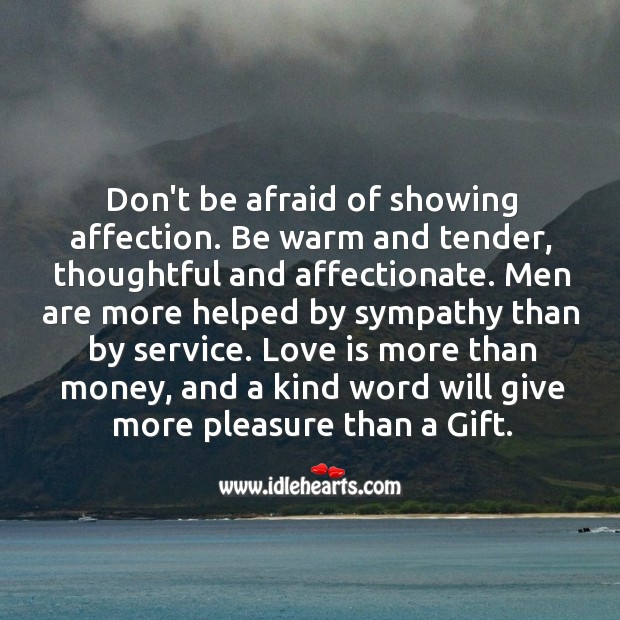Image, Don't be afraid of showing affection.