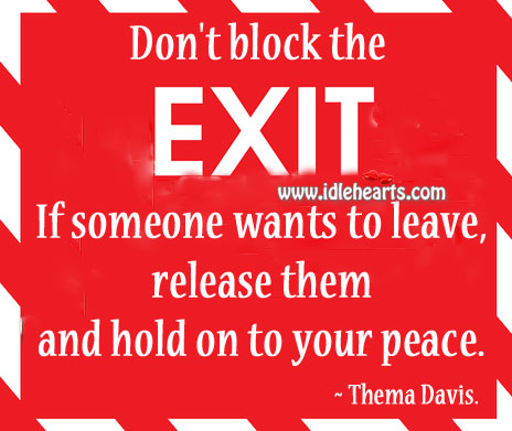 Don't block the exit. Image