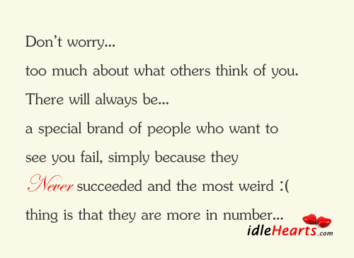 Don't worry… Too much about what others think of you Image