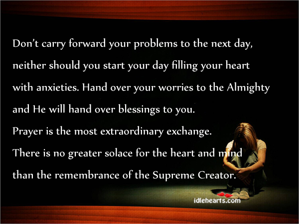 Don't Carry Forward Your Problems To The…