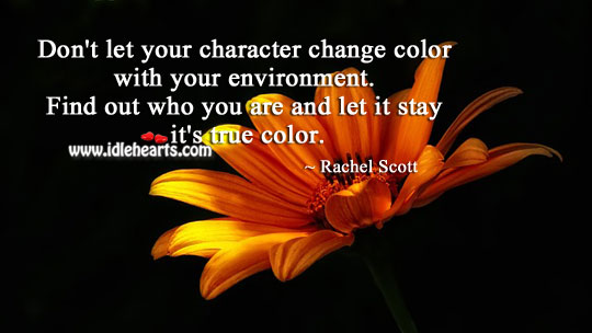 Don't Let Your Character Change Color With Your Environment.
