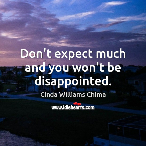 Don't expect much and you won't be disappointed. Image