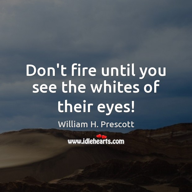 Don't fire until you see the whites of their eyes! Image