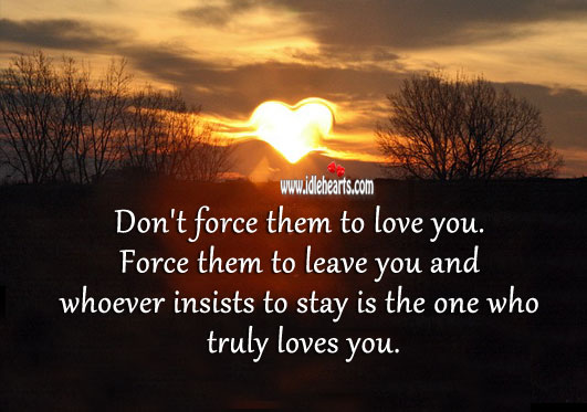 Image, Don't force them to love you