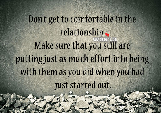 Always put your effort into relationship. Image