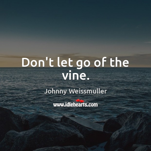 Don't let go of the vine. Image