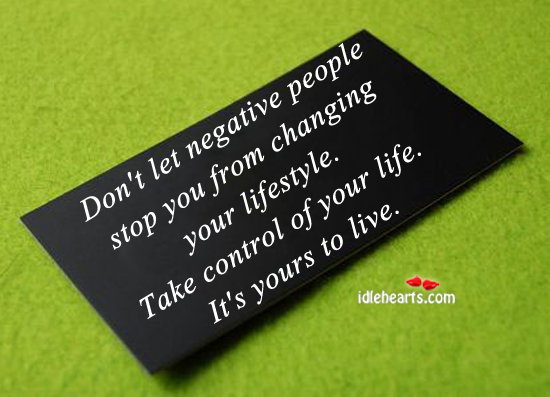 Don't let negative people stop you from. Image