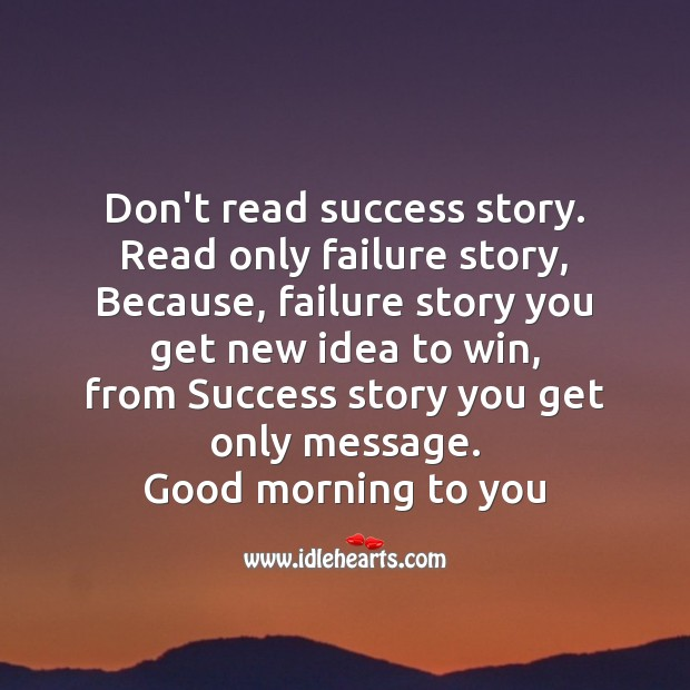 Image, Don't read success story.