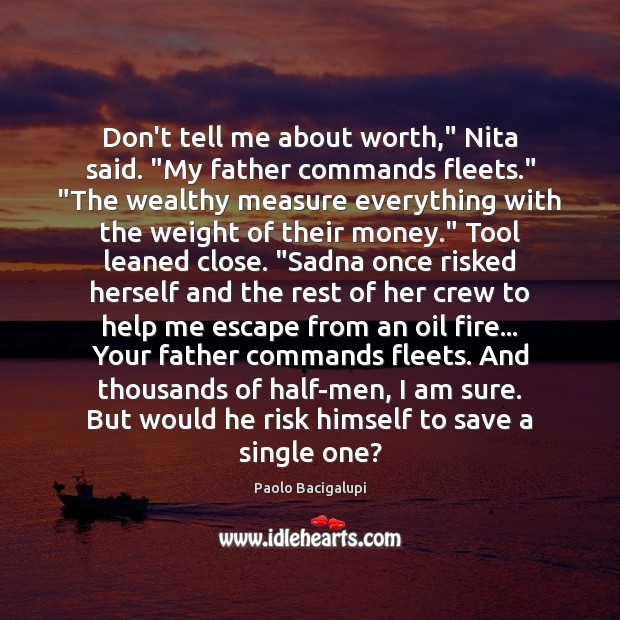 """Don't tell me about worth,"""" Nita said. """"My father commands fleets."""" """"The Image"""