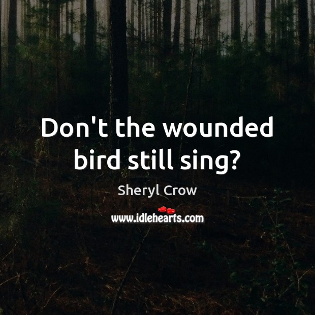 Don't the wounded bird still sing? Sheryl Crow Picture Quote