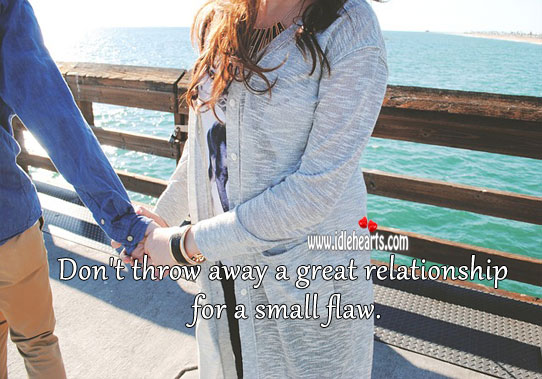 Image about Don't throw away a relationship.
