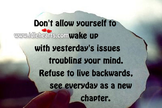 Don't Allow Yourself To Wake Up With