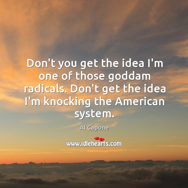 Don't you get the idea I'm one of those Goddam radicals. Don't Image